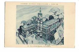 75 PARIS EXPOSITION COLONIALE 1931 LE PAVILLON DES MISSIONS PROTESTANTES CARTE DESSINEE - Exposiciones