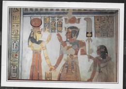 EGITTO - LUXOR  - TOMBA DEL PRINCIPE AMEN-HOR-KHEPESH-EF - FORMATO GRANDE 17X13 - VIAGGIATA 1997 FRANCOBOLLO ASPORTATO - Luxor