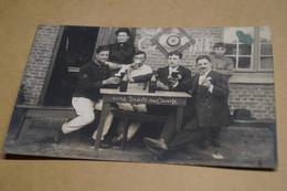 Groupe De Soldats,envoi à Gand,Gent,visite Au Camp,poilus,ancienne Photo Carte Postal,goupe,militaires,originale - War 1914-18