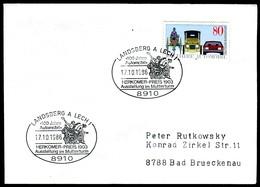 06841) BRD - Brief Mi 1268 - SoST 8910 LANDSBERG A. LECH 1 Vom 17.10.1986 - 100 Jahre Automobil - [7] République Fédérale