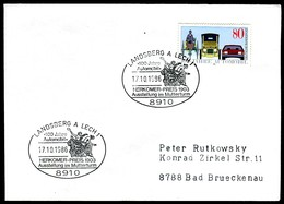 06841) BRD - Brief Mi 1268 - SoST 8910 LANDSBERG A. LECH 1 Vom 17.10.1986 - 100 Jahre Automobil - [7] Federal Republic