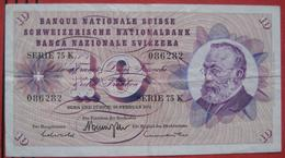 10 Franken 1971 (WPM 45q) - Suiza