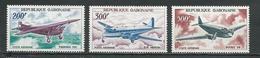 GABON  Scott C50-C52 Yvert PA52-PA54 ** (3) Cote 28,00  $ 1967 - Gabon (1960-...)
