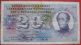 20 Franken 1969 (WPM 46q) - Suisse