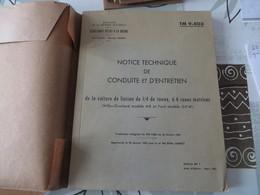 Notice Technique De Conduite Et D'entretien De La Voiture De Liaison De 1/4 Tonne, à 4 Roues Motrice (JEEP) - 84/07 - Livres, BD, Revues