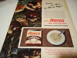 ANCIENNE PUBLICITE PRINCE DES CEPES DE ROYCO 1958 - Posters
