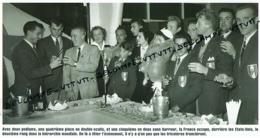 AVIRON : PHOTO (1952), JEUX OLYMPIQUES, HELSINKI, LE DELEGATION FRANCAISE AUTOUR DE SES MEDAILLES ET DES PARTICIPANTS... - Aviron