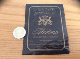 étiquette De Vin «MADIRAN - CARTE NOIRE PRODUCTEURS (32)» - Madiran