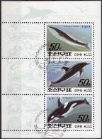 DPR Korea 1992 Sc. 3152a Balene Whale Orcinus Orca Sheet CTO Perf. - Dolfijnen