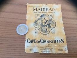 étiquette De Vin «MADIRAN - CAVE De CROUSEILLES (64)» - Madiran