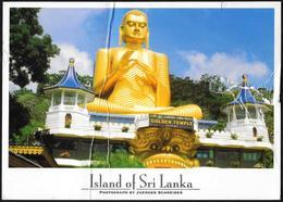 Sri Lanka: Statua Di Buddha, Buddha Statue, Statue De Bouddha, (strappo, Piega, Tear, Fold, Déchirer, Plier) - Bouddhisme