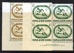 BF130 - PAPUA NUOVA GUINEA 1963 ,serie Yvert N. 54/55 Quartine Integre  ***  MNH - Papua Nuova Guinea