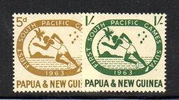 R335 - PAPUA NUOVA GUINEA 1963 ,serie Yvert N. 54/55  ***  MNH Sport - Papua Nuova Guinea