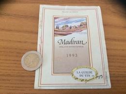 étiquette De Vin «MADIRAN - La Guilde Du Vin - Bernard Magrez» 1993 - Madiran