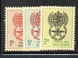 R334 - PAPUA NUOVA GUINEA 1962 ,serie Yvert N. 44/46  ***  MNH  Malaria - Papua Nuova Guinea