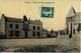 36  PRISSAC   -  MAIRIE ET  ECOLE DE    GARCONS - France