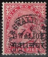 Gwalior - 1886 - Y&T N° 11, Oblitéré - Gwalior