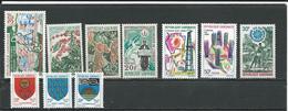 GABON  Scott 230, 232-3, 235, 235, 250-1, 253-5, 257 Yvert 229, 231-2,234,249-0, 252-4, 2 ** (10) Cote 13,00  $ 1968-9 - Gabon (1960-...)