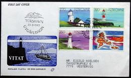 Faroe Islands  1985 Leuchttûrme/Lighthouses MiNr.121-123 FDC ( Lot Ks  ) - Féroé (Iles)