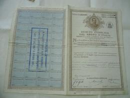 DEBITO PUBBLICO DEL REGNO D'ITALIA 1907 - Non Classificati