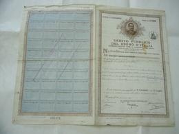 DEBITO PUBBLICO DEL REGNO D'ITALIA 1912 - Azioni & Titoli