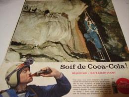 ANCIENNE PUBLICITE SOIF DE  COCA COLA 1958 - Posters
