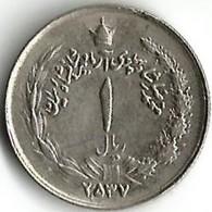 1 Pièce De Monnaie 1 Rial 1978 - Iran