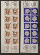 Lot De 2 Blocs De 10 Timbres Europa N°1877 Et N°1878 (bord De Feuille Et Oblitération 1er Jour Dans La Marge) - Ongebruikt
