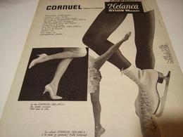 ANCIENNE PUBLICITE LES  BAS CORNUEL ET HELANCA  1958 - Habits & Linge D'époque