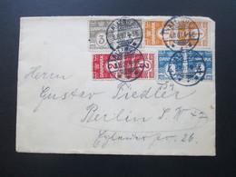 Dänemark 1907 Freimarken MiF / Vier - Farben - Frankatur Allinge Nach Berlin Mit AK Stempel - Briefe U. Dokumente