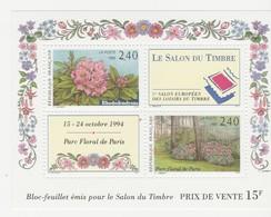 France - Bloc Feuillet N°15 - Neuf - Salon Du Timbre. 1er Salon Européen Des Loisirs Du Timbre - 1993 - 20% De La Cote - Blocs & Feuillets