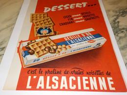 ANCIENNE PUBLICITE BISCUITS RESILLE D OR DE L ALSACIENNE 1958 - Autres Collections