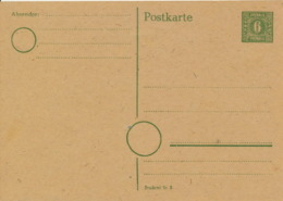 SBZ Ganzsache P6 * - Sowjetische Zone (SBZ)