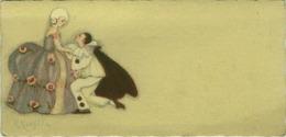 CHIOSTRI SIGNED OLD BOOKMARK / SEGNALIBRO - PIERROT - 1930s (BG913) - Bookmarks