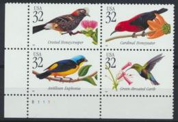 USA 2991/94 Eckrandviererblock ** Postfrisch - Vereinigte Staaten