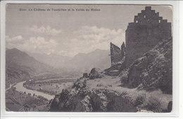 SION - LE CHATEAU DE TOURBILLON ET VALLEE DU RHONE - N/C - VS Valais