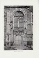 1902 - Phototypie - Dienville (Aube) - Le Portail De L'église - FRANCO DE PORT - Vieux Papiers