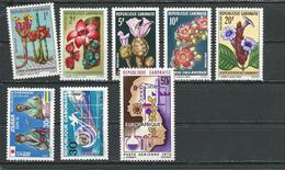 GABON  Scott 244, 259, 261, C91 Yvert 243-247, 258, 260, PA93 ** (8) Cote 6,70  $ 1969-70 - Gabon (1960-...)