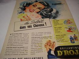 ANCIENNE  PUBLICITE DU SOLEIL CHEVEUX BRILLANTINE ROJA 1950 - Parfums & Beauté