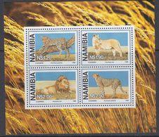 Namibia 1998 Wild Cats (Lion, Leopoard, E.o) M/s ** Mnh (41110) - Namibië (1990- ...)