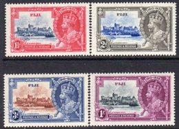Fiji GV 1935 Silver Jubilee Set Of 4, Hinged Mint, SG 242/5 - Fiji (...-1970)