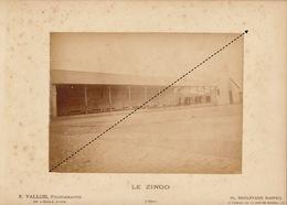 1887 Rare Photo Sur Carton De L'école Spéciale Militaire De Saint Cyr Par E. Vallois Le Zingo - Guerre, Militaire