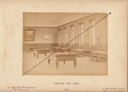 1887 Rare Photo Sur Carton De L'école Spéciale Militaire De Saint Cyr Par E. Vallois Salle De Jeu - Guerre, Militaire