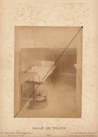 1887 Rare Photo Sur Carton De L'école Spéciale Militaire De Saint Cyr Par E. Vallois Salle De Police - Guerre, Militaire