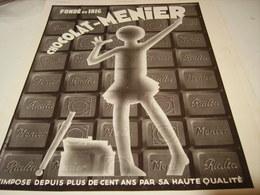 ANCIENNE PUBLICITE  CHOCOLAT  MENIER 1952 - Posters
