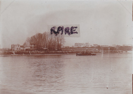 PHOTO ANCIENNE,92,HAUTS DE SEINE,BOULOGNE BILLANCOURT,GYMNASE,BATEAU A VAPEUR,1900,RARE - Plaatsen