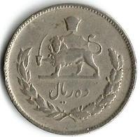 1 Pièce De Monnaie 10 Rials 1967 - Iran
