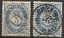 NORVEGE    -    1877  . Y&T N° 24 / 24a Oblitérés - Usati