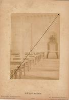 1887 Rare Photo Sur Carton De L'école Spéciale Militaire De Saint Cyr Par E. Vallois Refectoire - Guerre, Militaire