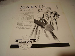 ANCIENNE PUBLICITE MONTRE MARVIN 1950 - Bijoux & Horlogerie